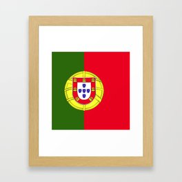 Portugal flag emblem Framed Art Print