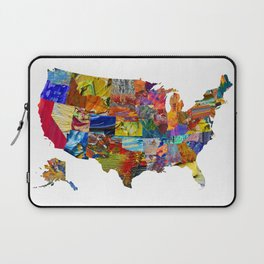 USA Map Laptop Sleeve