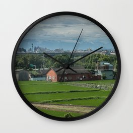 Rural Scence Wall Clock
