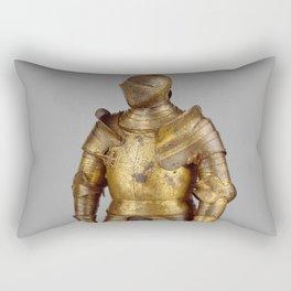 Vintage Golden Knight Armor Photograph (1527) Rectangular Pillow