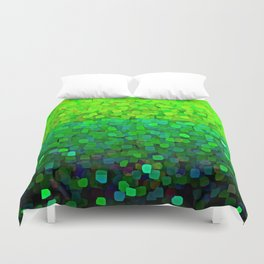 Glitter Sparkles Green Duvet Cover