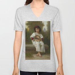 """Elizabeth Jane Gardner Bouguereau """"In the Garden"""" Unisex V-Neck"""
