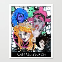 modern vampires of art history Canvas Prints featuring Vampires by Vicious East