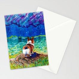Corgi - sea admirer Stationery Cards