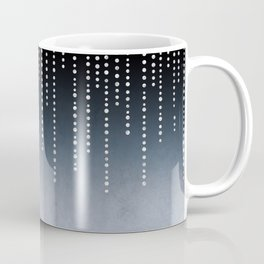 Rhinestone Faux Glitter Line On Dark Blue Coffee Mug