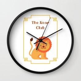 The Roar Club Wall Clock