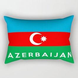 Azerbaijan country flag name text Rectangular Pillow