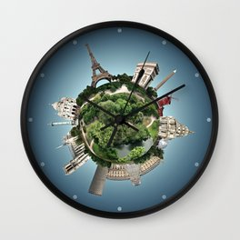 Planet Paris Wall Clock