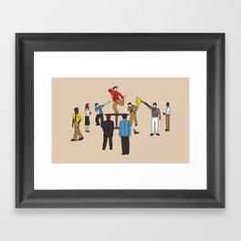 Party Foul Framed Art Print
