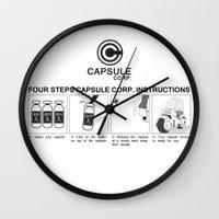 dragon ball Wall Clocks featuring Manga, Dragon Ball, Capsule Corp instruction by Babylon ART