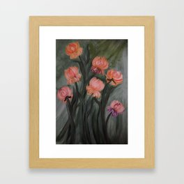 Big Flowers Framed Art Print