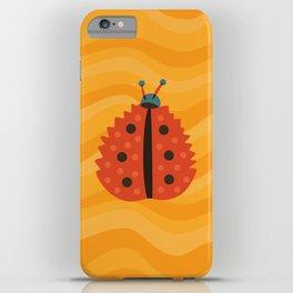 Orange Ladybug Autumn Leaf iPhone Case