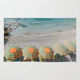 Umbrellas on the beach Rug