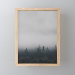 Northwestern misty forest Framed Mini Art Print