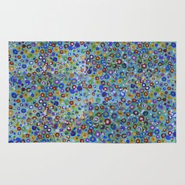 Wild Flowers Abstract Rug