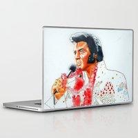 elvis presley Laptop & iPad Skins featuring Elvis presley by calibos