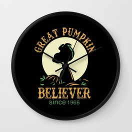 Great Pumpkin Believer Wall Clock