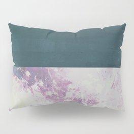 Bit of Brushstroke - Teal & Pink Pillow Sham