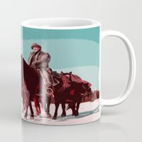 django Mugs featuring Django Unchained Movie Poster  by FunnyFaceArt