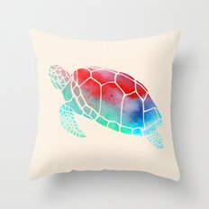 Watercolor Turtle Throw Pillow