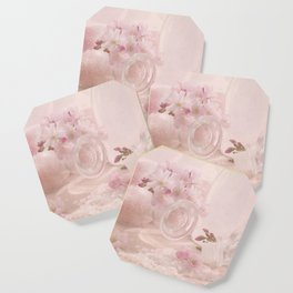 Almond blossoms in Vintage Style Coaster