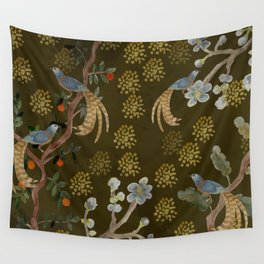 Golden Chinese Forest - Chinese Art Wall Tapestry