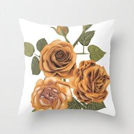 Vintage roses Throw Pillow