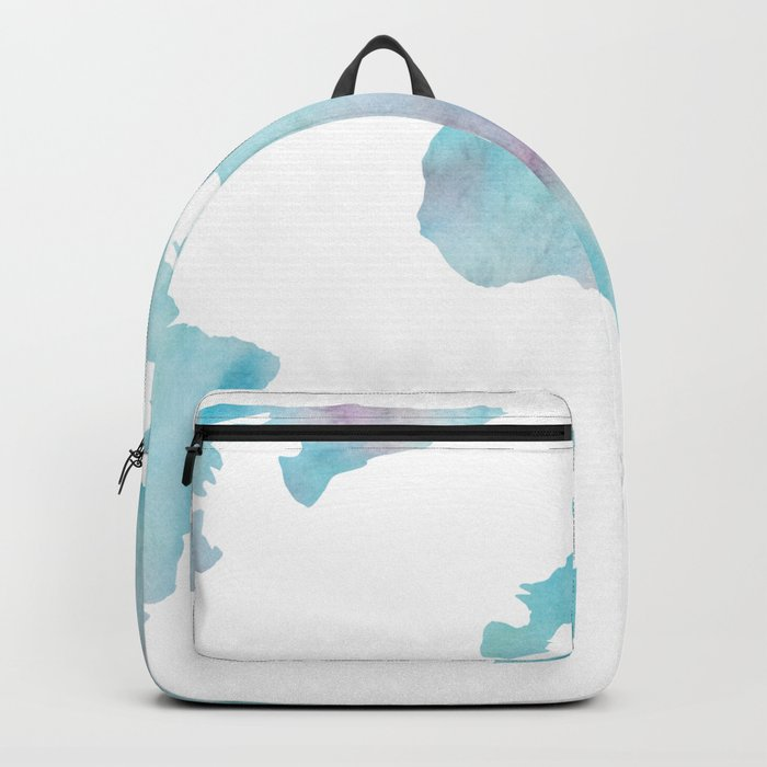 World Map Ocean Blue Backpack