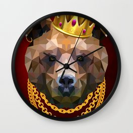 The King of Bears Wall Clock
