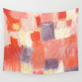 City Sunset Geometric Abstract Painting Wall Tapestry