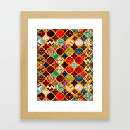 -A32- Epic Colored Traditional Moroccan Artwork. Framed Art Print