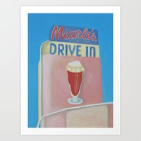 Mearle's Drive In  Art Print