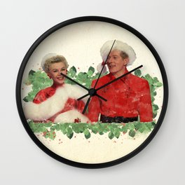 Phil & Judy (White Christmas) Wall Clock