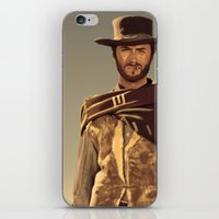 clint eastwood iPhone & iPod Skins featuring Clint Eastwood by Thousand Lines Ink
