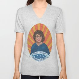 Women Who March: Maxine Waters Unisex V-Neck