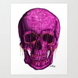 Violet Skull Art Print