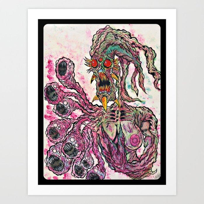 Monsters inside me Art Print