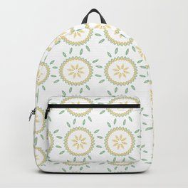Spring Flower Motif Daisy Style Seamless Pattern Backpack