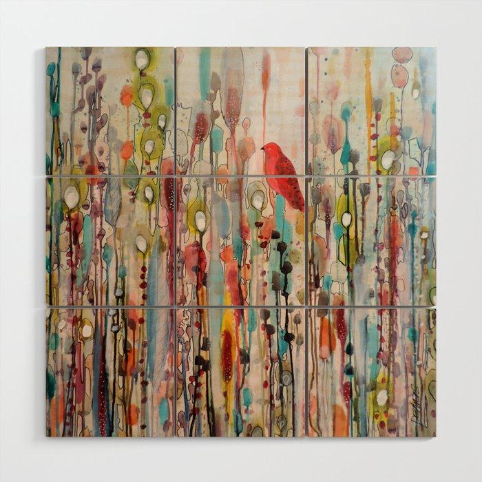la vie comme un passage Wood Wall Art