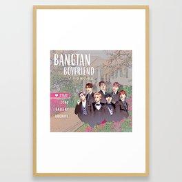 Bangtan Boyfriend Dating Sim Framed Art Print