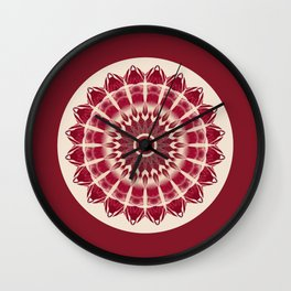 Mandala red splendor Wall Clock