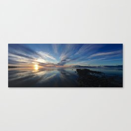 Sunset on the Great Salt Lake Canvas Print