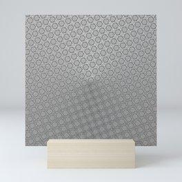 d20 Iron Weapon Critical Hit Pattern Mini Art Print