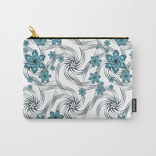 Floral pattern. Carry-All Pouch