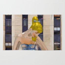 Seated Ballerina at Rockefeller Center 3 Rug