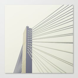 cable-stayed bridge Canvas Print