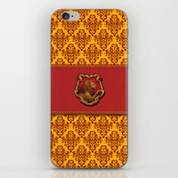 gryffindor iPhone & iPod Skins featuring Gryffindor House by Sarah and Bree