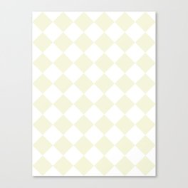 Large Diamonds - White and Beige Canvas Print