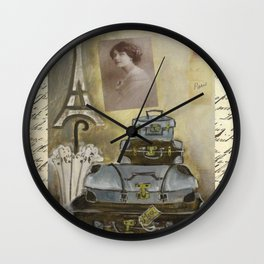 turquoise travels  Wall Clock