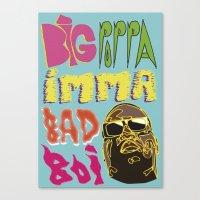 biggie smalls Canvas Prints featuring Biggie Smalls  by madebypinda